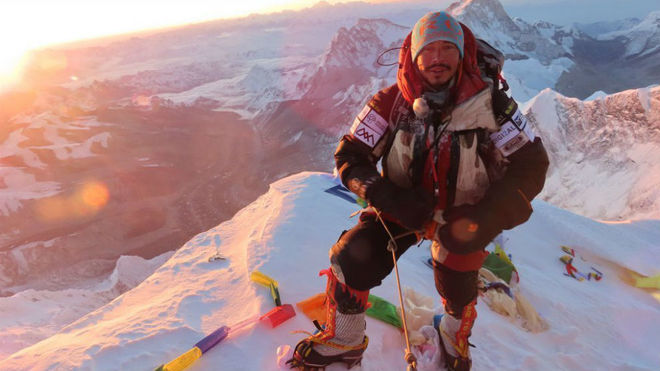 Nirmal Purja, en el Everest.