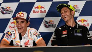 Marc Márquez y Valentino Rossi.