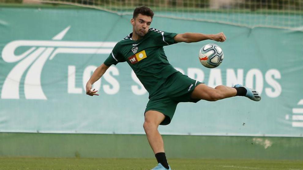 Andoni López, entrenando la semana pasada.