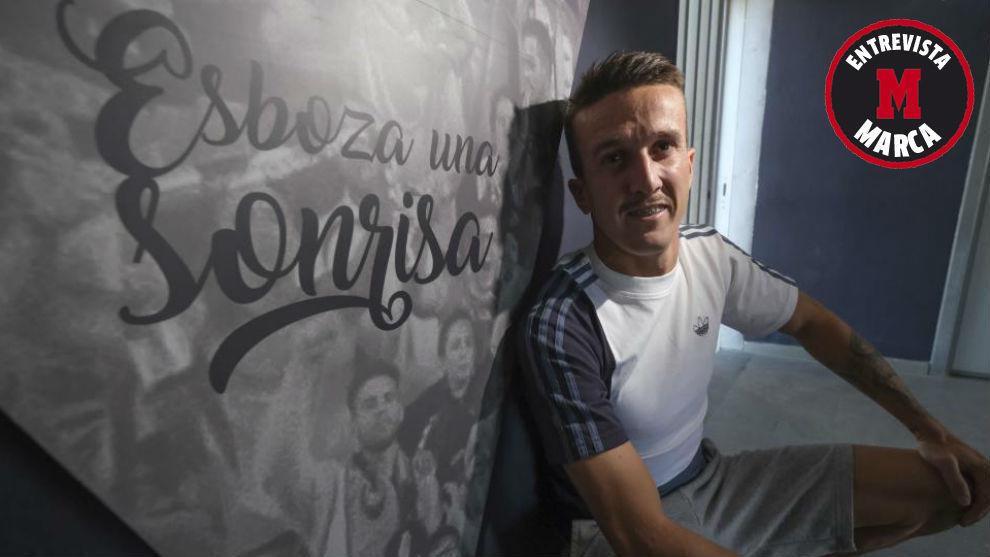 Salvi posa para MARCA en un pasillo de la Ciudad Deportiva cadista