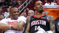 Gerald Green compartiendo banquillo en los Rockets con Russell...