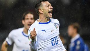 Bernardeschi celebra su gol a Liechtenstein