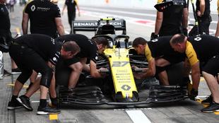 El Renault, en el GP de Japón.