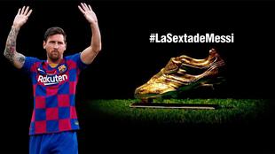 Messi recibirá su sexta Bota de Oro.
