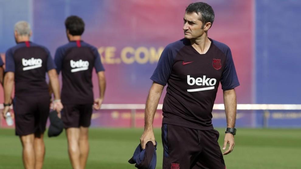 Valverde, durante un entrenamiento