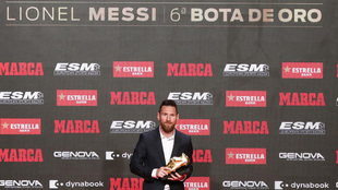 Leo Messi recibe su sexta Bota de Oro