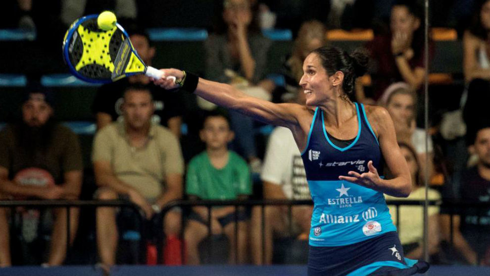 Mapi Sánchez Alayeto durante el torneo de Menorca.