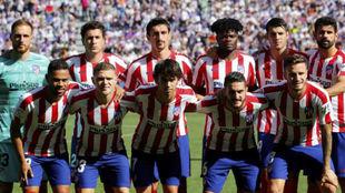 Once del Atlético en Valladolid.