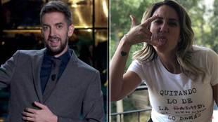 El presentador del La Resistencia David Broncano y Yohanna Alonso.