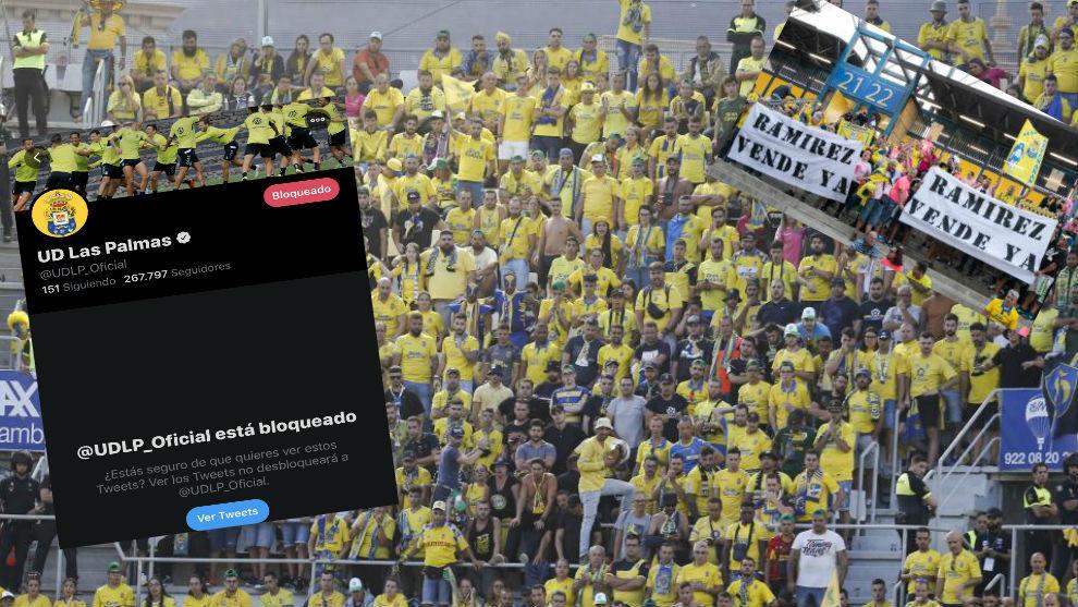 La afición amarillo, durante el partido en el Heliodoro Rodríguez...