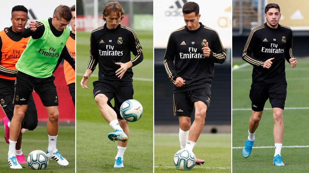 Kroos, Modric, Lucas and Fede Valverde