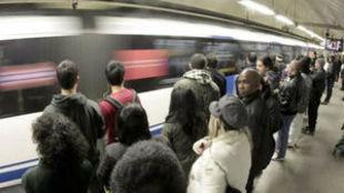 Imagen de una estación del Metro de Madrid.