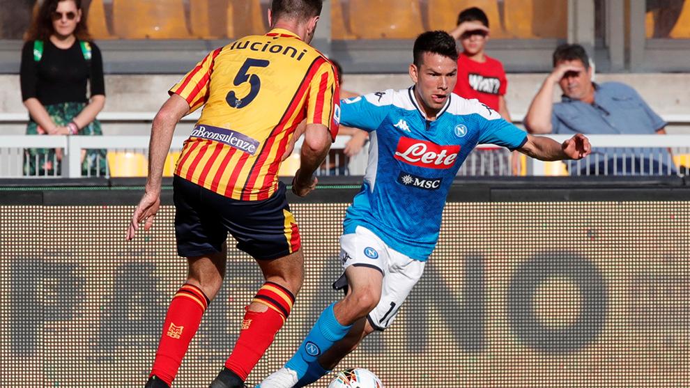 Hirving Lozano, jugador del Napoli