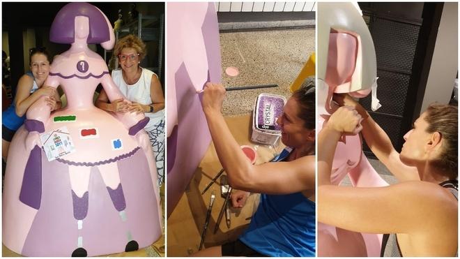 Sara Andrés y Lola Gamero, durante el proceso de creación de la...