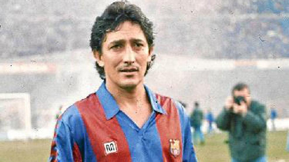 Romerito, en su etapa como jugador del Barcelona.