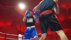 Gazi durante un combate de la Liga Marathonbet