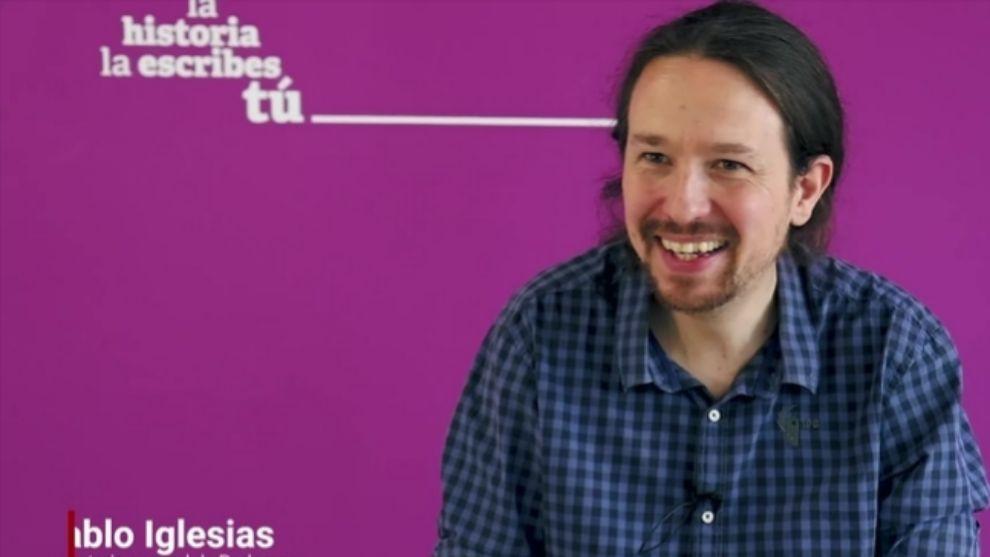Pablo Iglesias duante una entrevista a MARCA