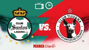 Santos vs Tijuana, horario y dónde ver.