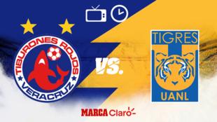 Veracruz vs Tigres: Horario y dónde ver
