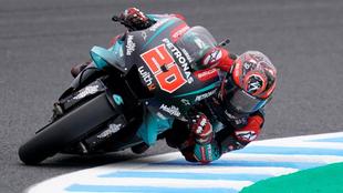 Fabio Quartararo en el circuito de Motegi.
