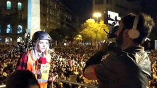 Ana Francisco, la reportera agredida en Barcelona.