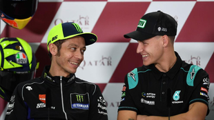 Valentino Rossi y Fabio Quartararo.