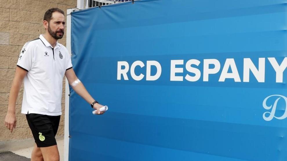Machín, tras un entrenamiento en la Ciudad Deportiva.