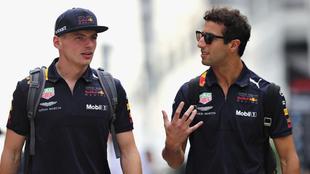 Max Verstappen y Daniel Ricciardo.