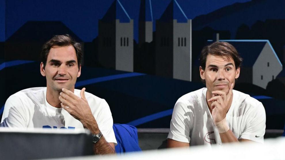 Federer y Nadal, en el banquillo de la Laver Cup