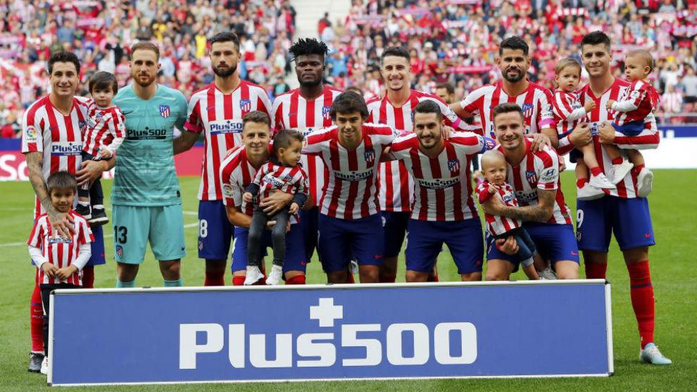 El once del Atlético ante le Valencia.