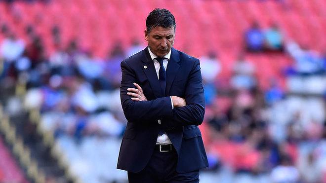 Siboldi, en el duelo entre el Cruz Azul y Morelia.