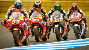 Los cuatro pilotos de Honda esta temporada.