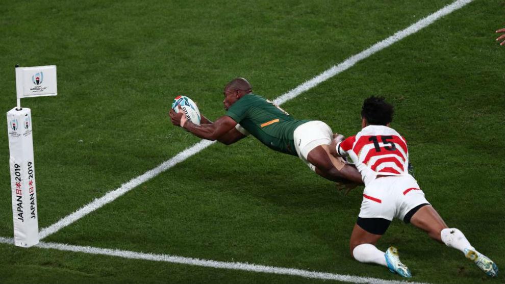 Ensayo de Sudáfrica ante Japón. Los sudafricanos jugarán las...