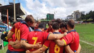 Abrazo de la selección española