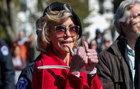 Jane Fonda es detenida en Washington por segunda vez en una semana.
