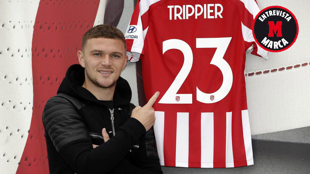 Kieran Trippier posing for MARCA.