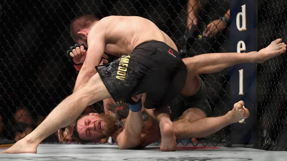 Khabib Nurmagomedov ganó por sumisión a Conor McGregor el 6 de...
