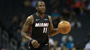 Dion Waiters jugando con los Heat en esta pretemporada