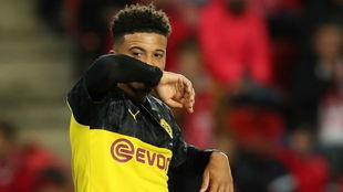 Sancho, en un partido con el Borussia Dortmund