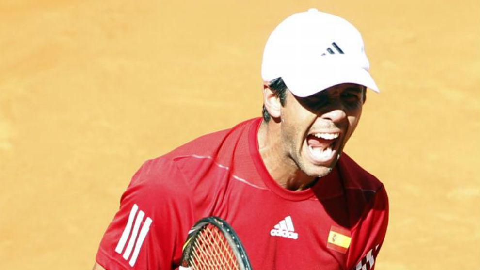 Verdasco, en una serie de Copa Davis