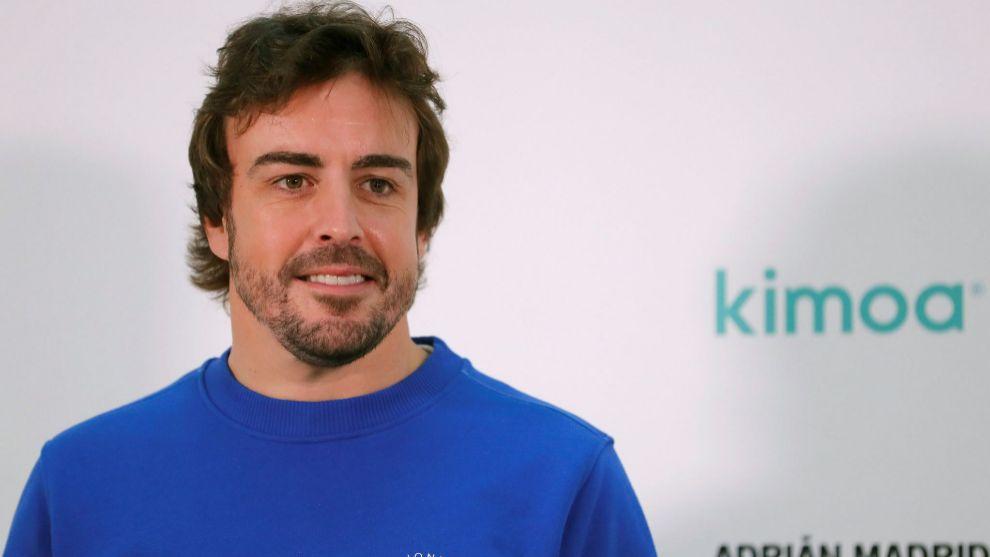 Fernando Alonso, en el evento de Kimoa hoy.