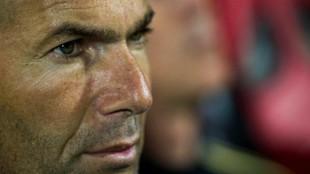 Zinedine Zidane en el encuentro ante el Mallorca
