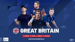 El equipo británico de Copa Davis