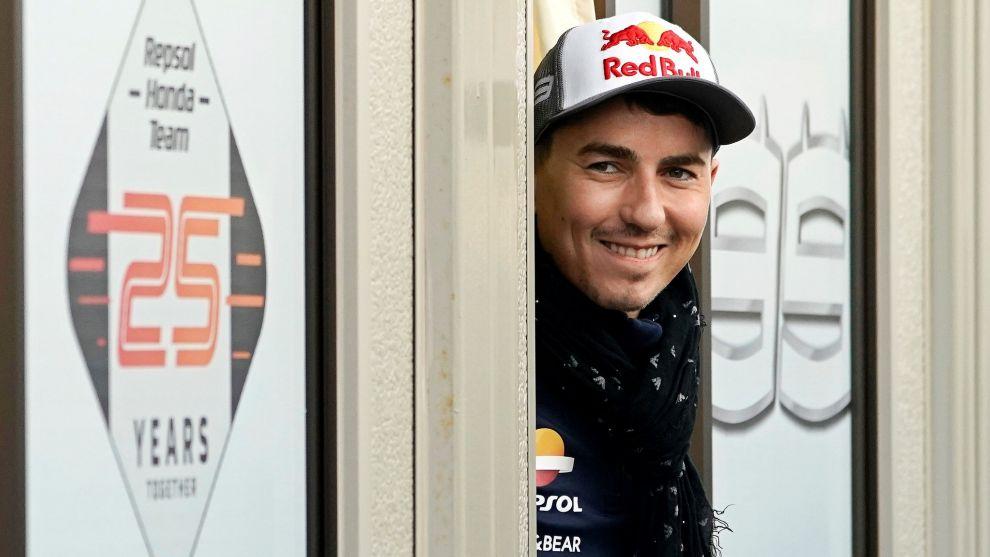 Lorenzo, en el Gran Premio de Japón.