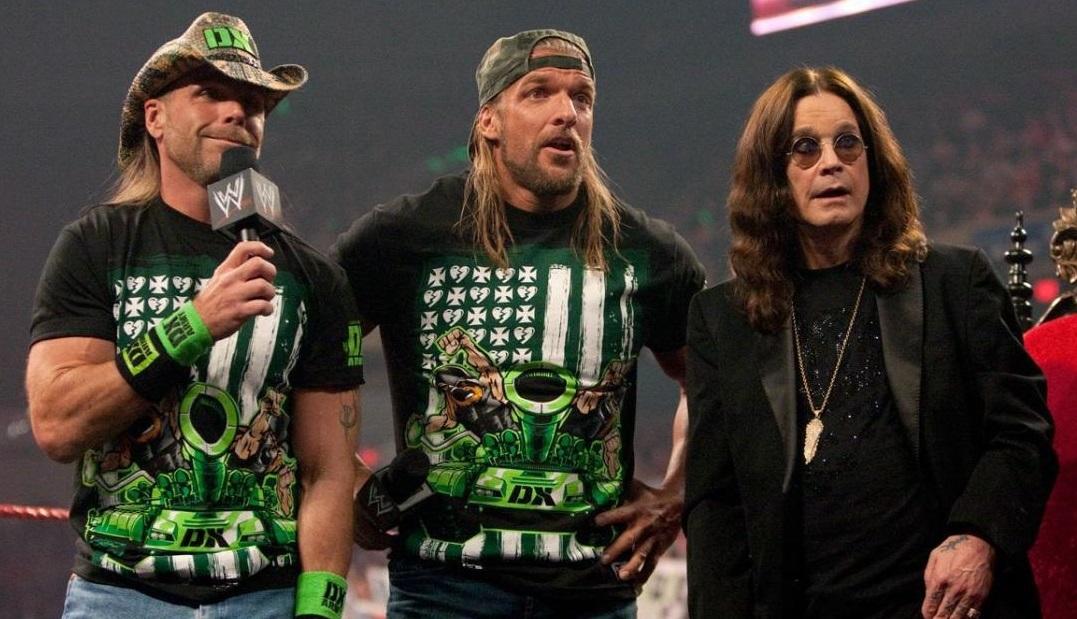 Ozzy junto a Triple H y Shawn Michaels