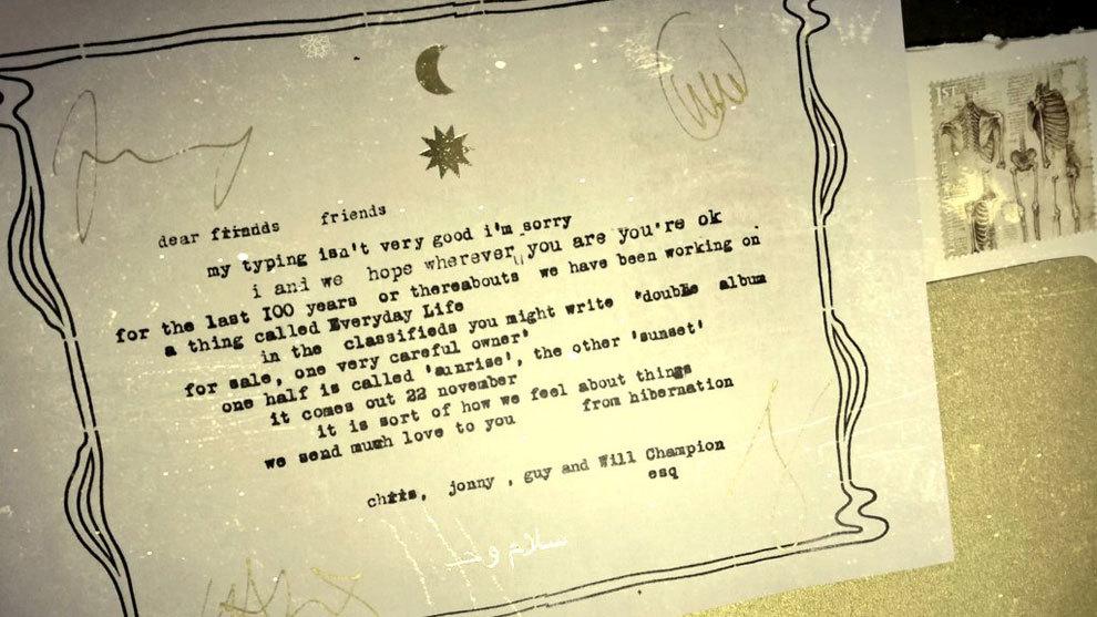 Coldplay comunica por correo a sus fans que sacará un nuevo álbum