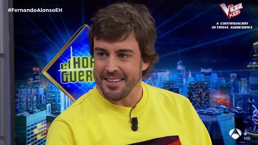 Fernando Alonso, en 'El Hormiguero'.