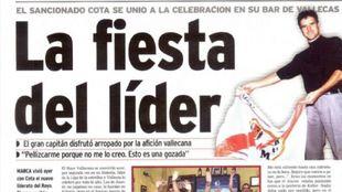 Página de MARCA el día en el que el Rayo Vallecano se convirtió en...