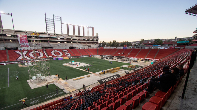 Así se encontraba el Estadio Caliente previo al partido de la Liga MX...