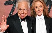 El diseñador estadounidense Ralph Lauren y su esposa Ricky Anne Loew...